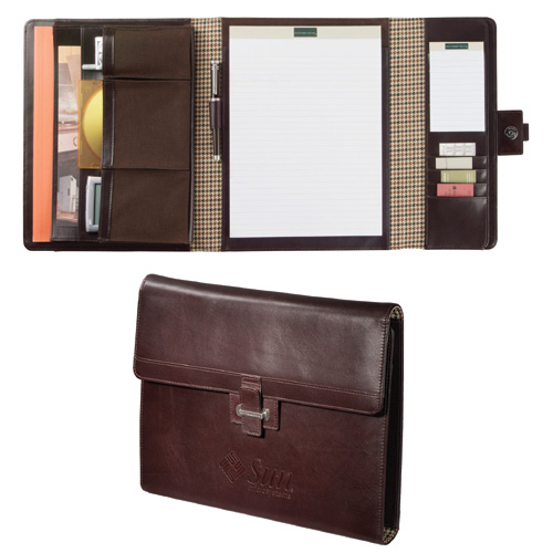 Cutter Buck Tri Fold Padholder Leather Portfolio Two Writing Pads Complete A Handsome Flap Over Organizer 118 50 More Info And Qty Pricing