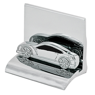 Chrome sports car business card holder click for larger image colourmoves