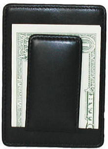 Money Clip Wallet - Bosca Leather - Deluxe Front Pocket Wallet With Magnetic Money Clip